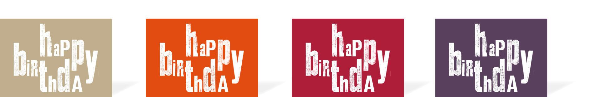 Die Karte HAPPY BIRTHDAY
